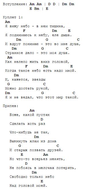 """Александр Иванов """"Боже, какой пустяк"""" - аккорды, текст ..."""