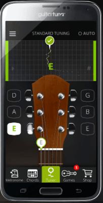 GuitarTuna - тюнер для телефона