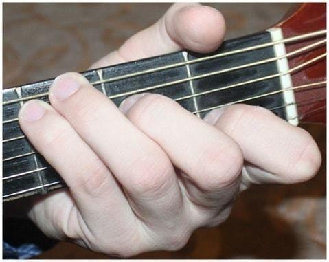как ставить аккорд c на гитаре