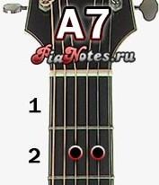 Аккорд A7